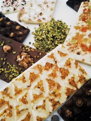 Tabletas variadas de chocolate