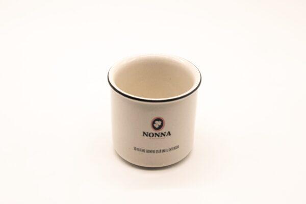 Taza ceramica vintage con logo Nonna y frase